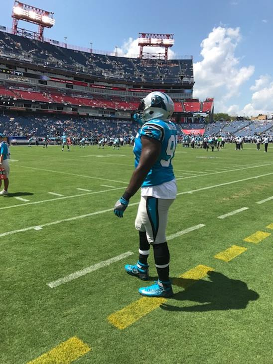 "<div class=""meta image-caption""><div class=""origin-logo origin-image wtvd""><span>WTVD</span></div><span class=""caption-text"">More scenes from the Panthers at the Titans. (Charlie Mickens)</span></div>"