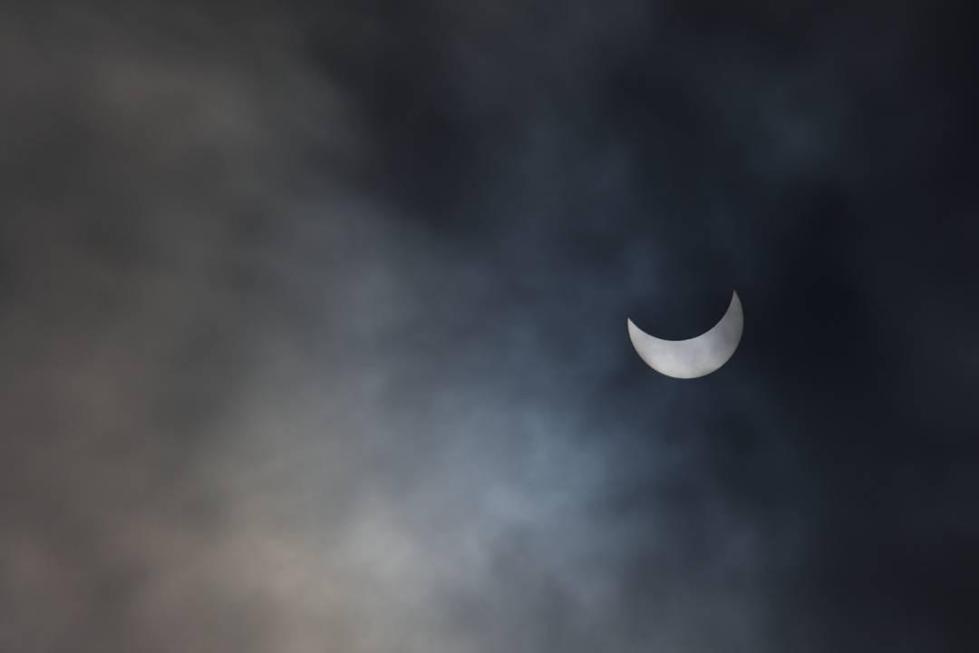 <div class='meta'><div class='origin-logo' data-origin='none'></div><span class='caption-text' data-credit='Photo submitted to KGO-TV by @skylakepark/Instagram'>The solar eclipse is seen in Menlo Park, Calif. on Monday, August 21, 2017.</span></div>