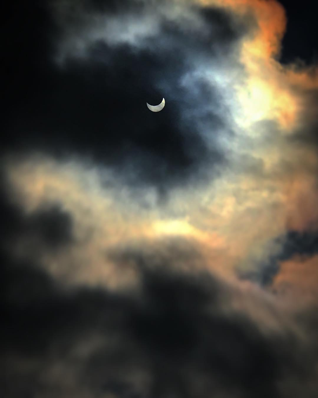 <div class='meta'><div class='origin-logo' data-origin='none'></div><span class='caption-text' data-credit='Photo submitted to KGO-TV by faroukdey/Insagram'>The solar eclipse is seen in Palo Alto, Calif. on Monday, August 21, 2017.</span></div>