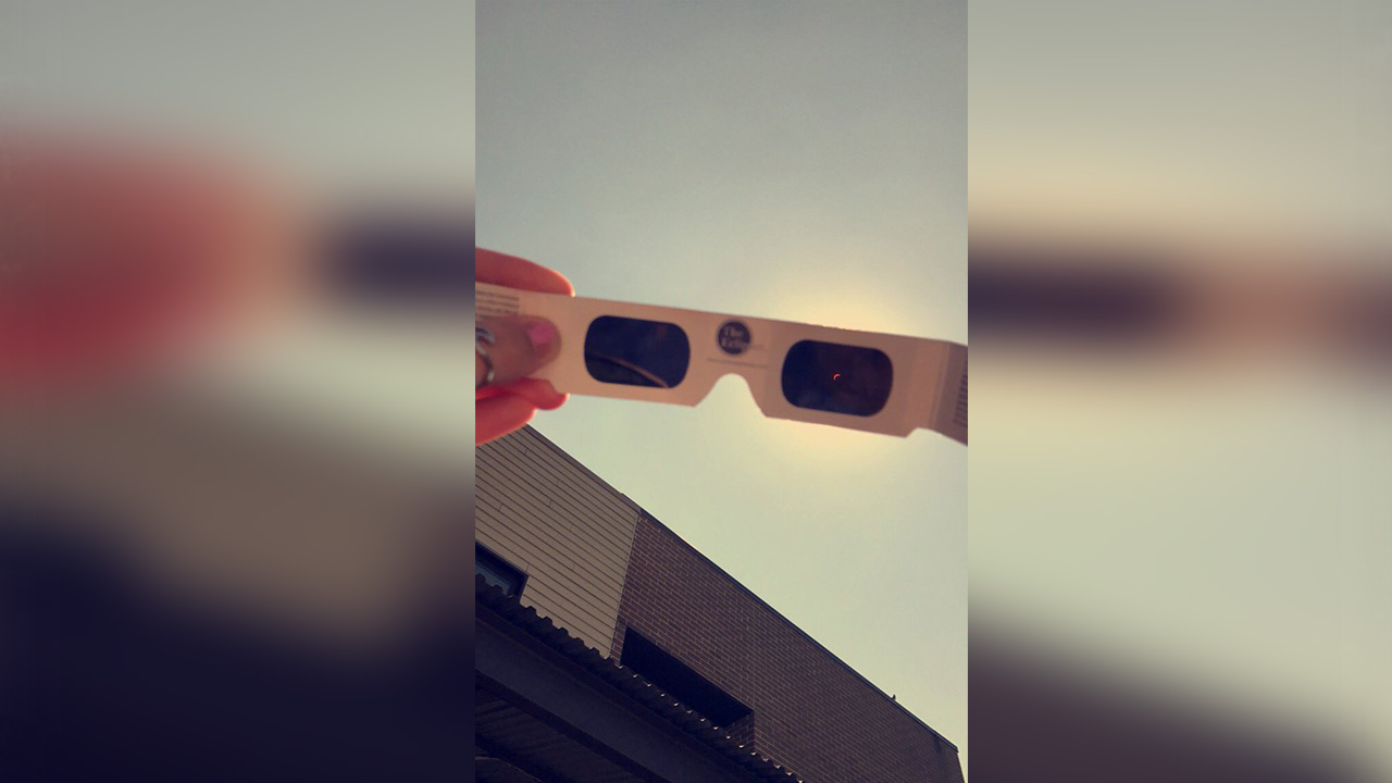 Solar eclipse from Mount Olive, NC