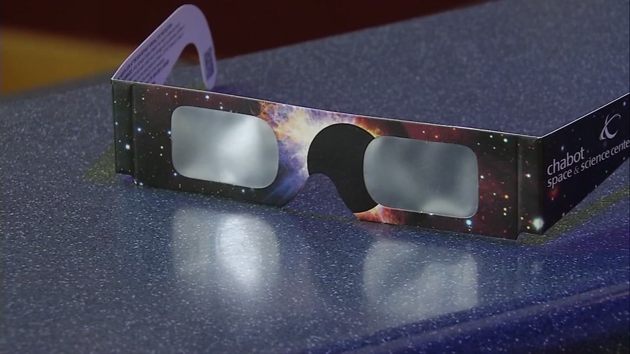 This is an undated image of eclipse glasses.
