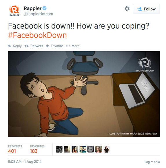 "<div class=""meta image-caption""><div class=""origin-logo origin-image ""><span></span></div><span class=""caption-text"">When Facebook goes down, Twitter reacts (Rapplerdotcom / Twitter)</span></div>"