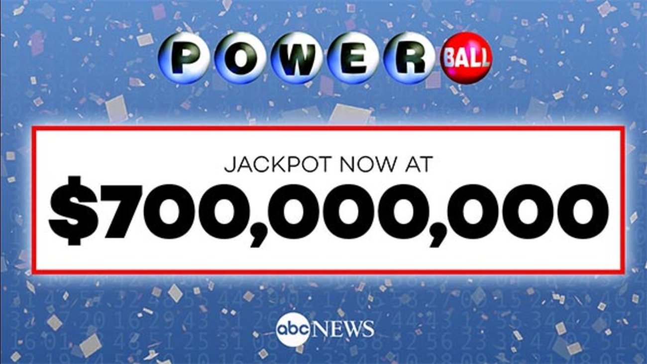 Powerball soars to $700M for Wednesday's drawing