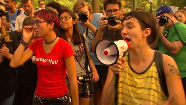 "<div class=""meta image-caption""><div class=""origin-logo origin-image wtvd""><span>WTVD</span></div><span class=""caption-text"">Protestors gather on UNC's campus to protest the Silent Sam statue</span></div>"