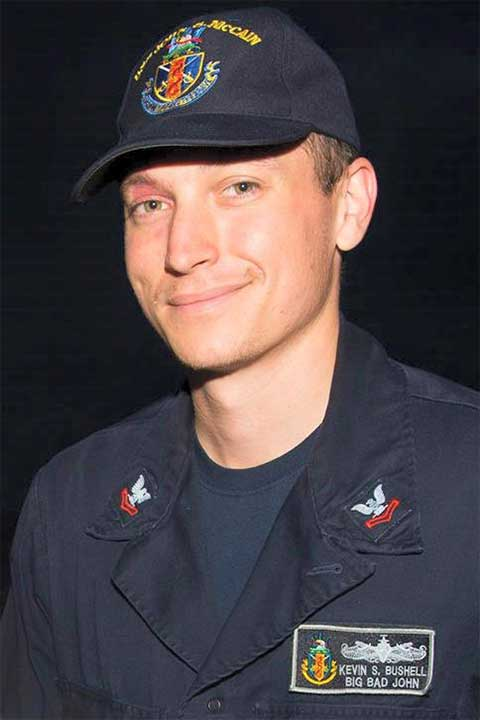 <div class='meta'><div class='origin-logo' data-origin='none'></div><span class='caption-text' data-credit='U.S. Navy'>Electronics Technician 2nd Class Kevin Sayer Bushell, 26, from Maryland.</span></div>