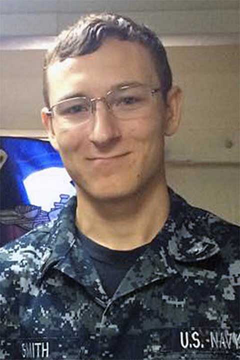 <div class='meta'><div class='origin-logo' data-origin='none'></div><span class='caption-text' data-credit='U.S. Navy'>Electronics Technician 3rd Class Kenneth Aaron Smith, 22, from New Jersey.</span></div>