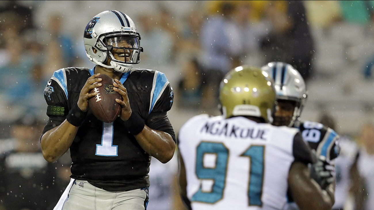 Cam Newton played one series against Jacksonville on Thursday night, and threw a touchdown pass.