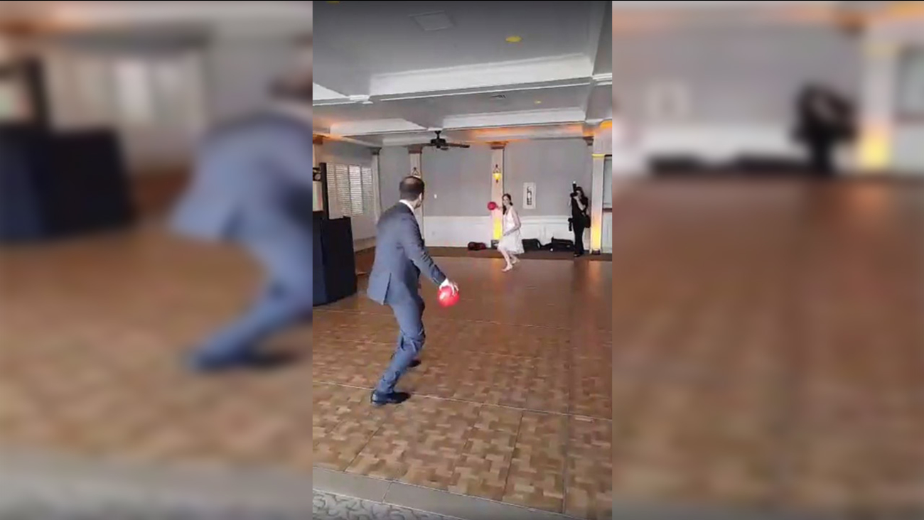 This NY couple decided to celebrate their love with an old-fashioned game of dodgeball