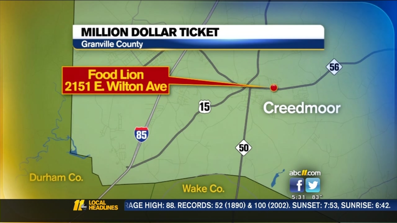 Anthony Johnson bought his lucky ticket at a Food Lion in Creedmoor.