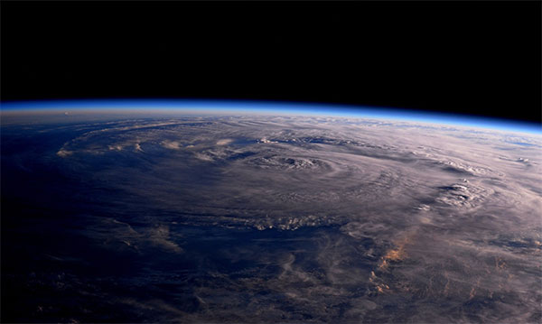 "<div class=""meta image-caption""><div class=""origin-logo origin-image none""><span>none</span></div><span class=""caption-text"">Astronaut Jack Fischer posted this photo of the storm from space, saying his thoughts were with those affected and adding ''Houston, we have a hurricane.'' (Astro2fish/Twitter)</span></div>"