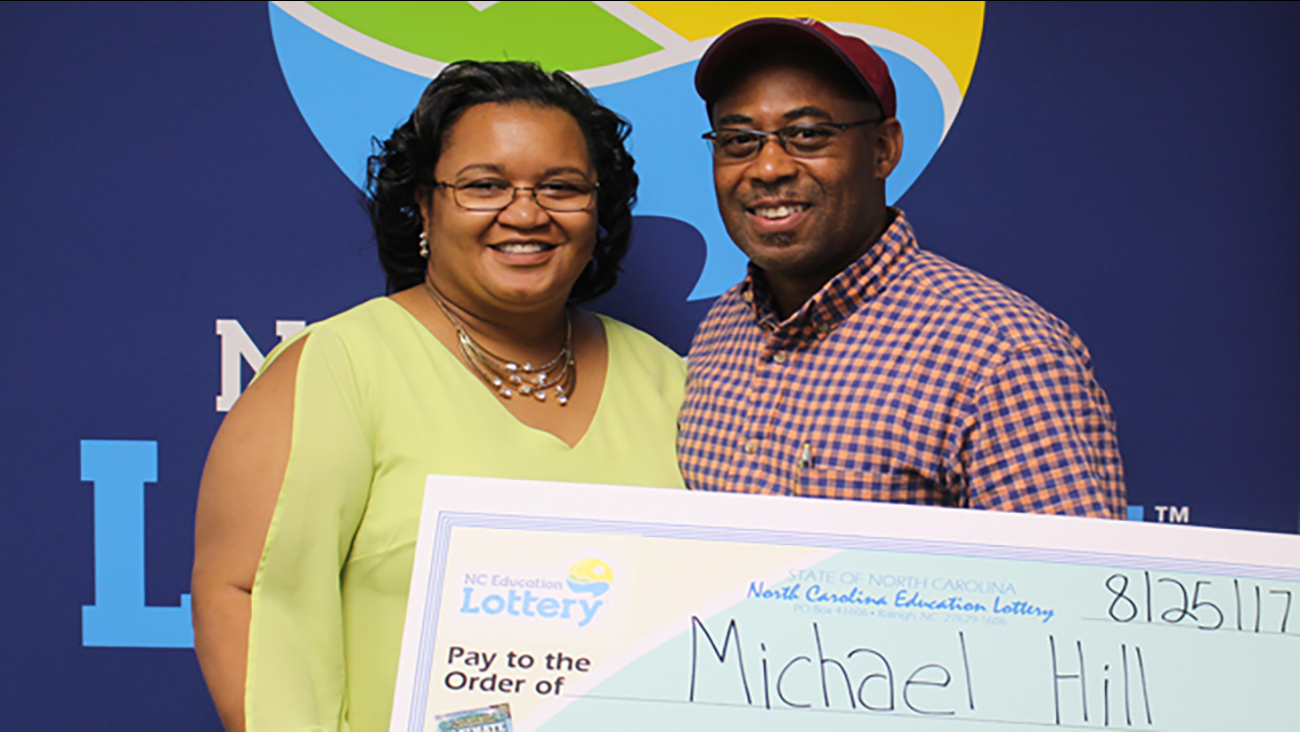 Michael Hill won $10 million in the North Carolina lottery