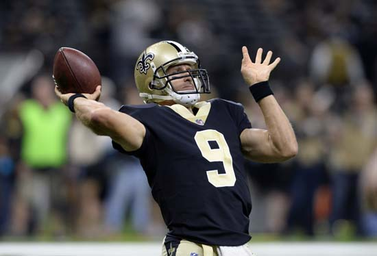 <div class='meta'><div class='origin-logo' data-origin='AP'></div><span class='caption-text' data-credit='AP'>New Orleans Saints quarterback Drew Brees (9) warms up before a preseason NFL football game against the Houston Texans in New Orleans, Saturday, Aug. 26, 2017. (AP Photo/Bill Feig)</span></div>