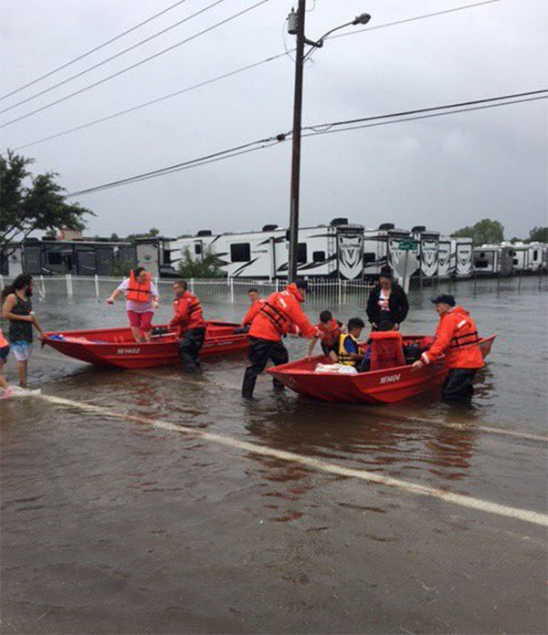 <div class='meta'><div class='origin-logo' data-origin='none'></div><span class='caption-text' data-credit='USCGHeartland/Twitter'>''#USCG Flood Punt Teams conducting urban search and rescue in greater #houston area. #Harvey,'' tweeted the US Coast Guard.</span></div>