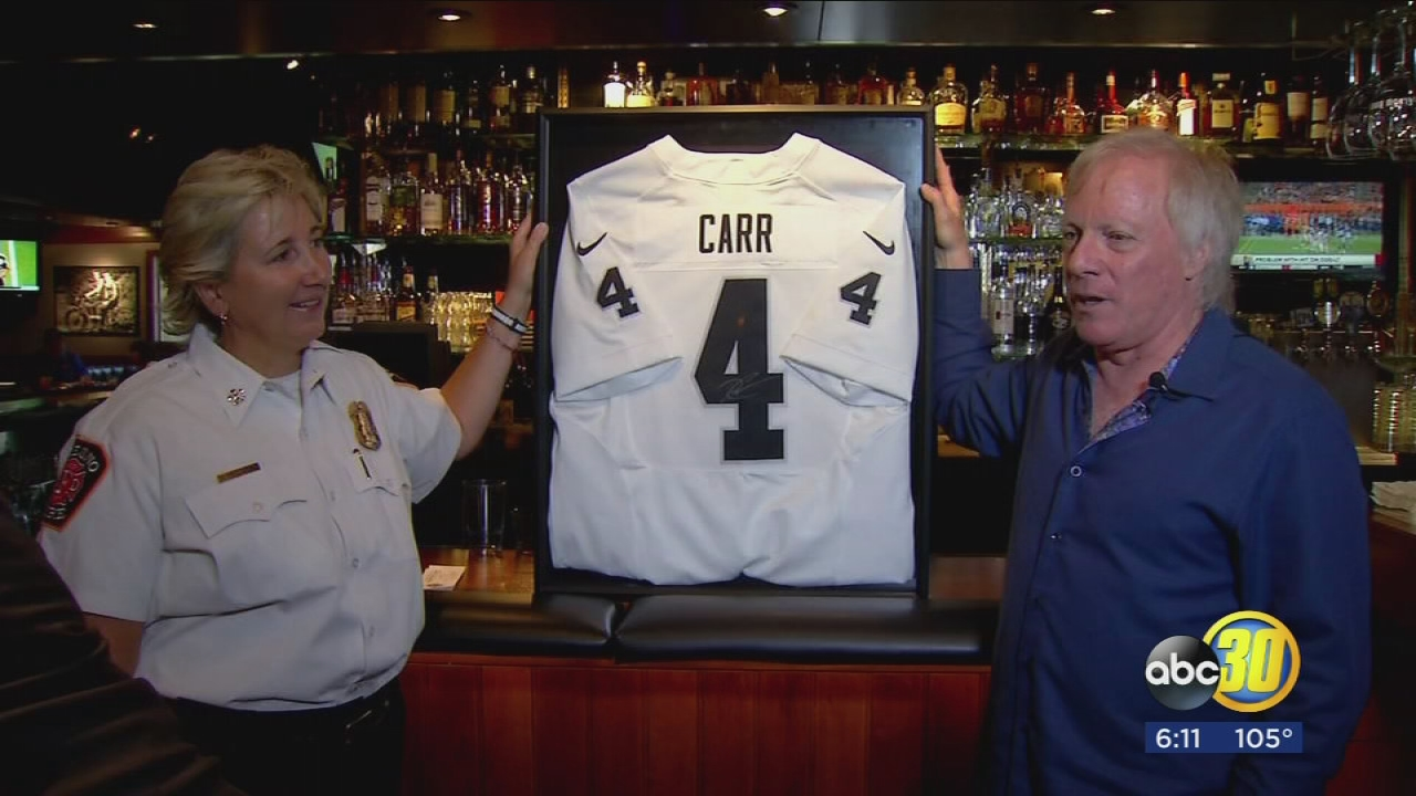 Raffle for Derek Carr jersey will help fund Fresno kids programs ...