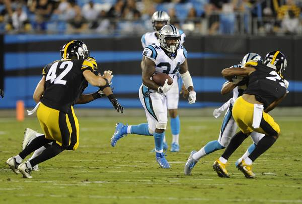 <div class='meta'><div class='origin-logo' data-origin='AP'></div><span class='caption-text' data-credit='Mike McCarn'>Carolina Panthers' Cameron Artis-Payne runs through the Pittsburgh Steelers' defense.</span></div>