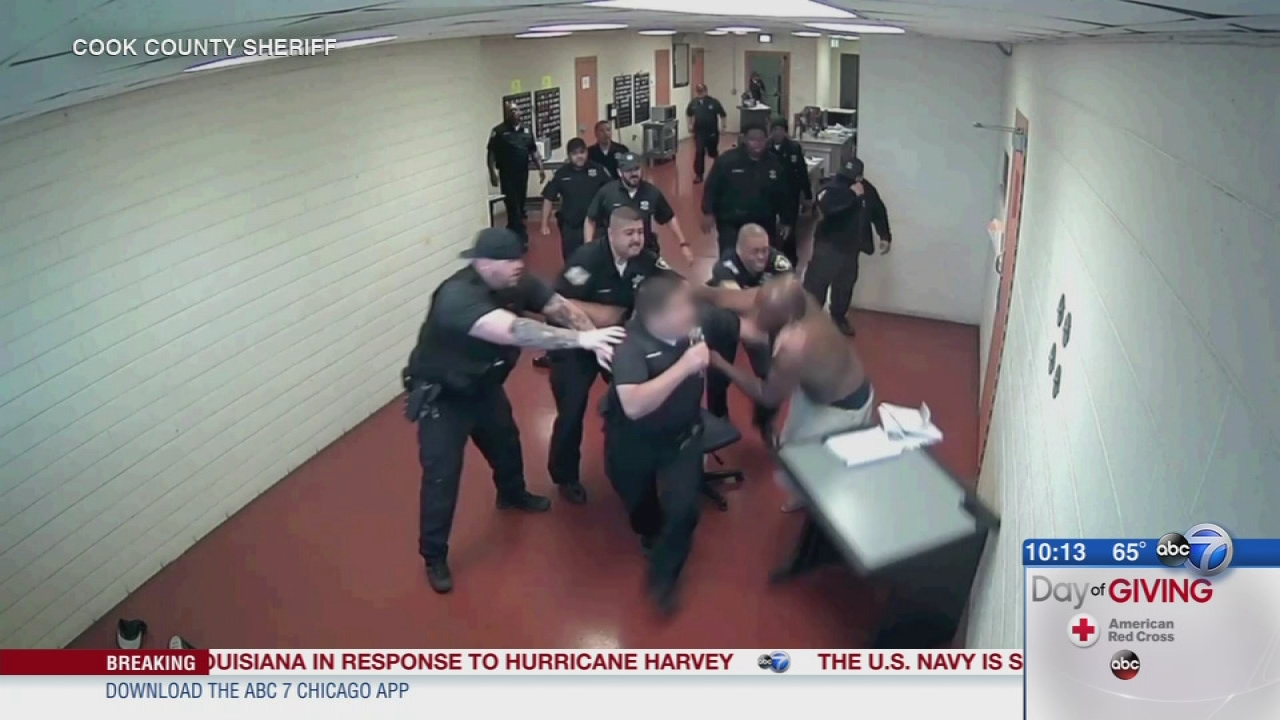 Video shows cook county inmate attacking correctional deputies