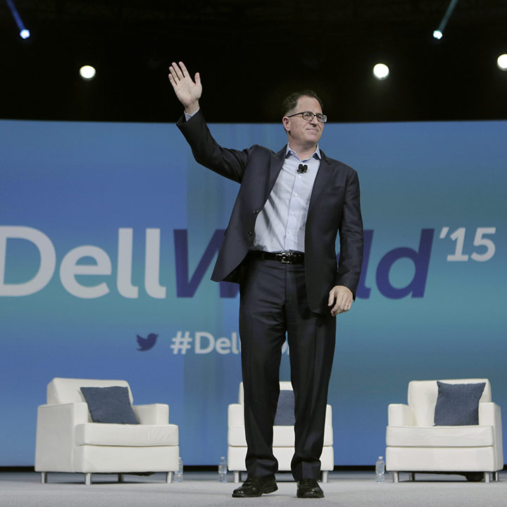 Michael Dell opens Dell World 2015 on Wednesday, October 21, 2015, in Austin, TX.
