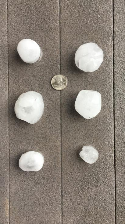 "<div class=""meta image-caption""><div class=""origin-logo origin-image wtvd""><span>WTVD</span></div><span class=""caption-text"">Hail bigger than quarters in Fuquay-Varina. (Brittney Skinner -  ABC11 Eyewitness)</span></div>"