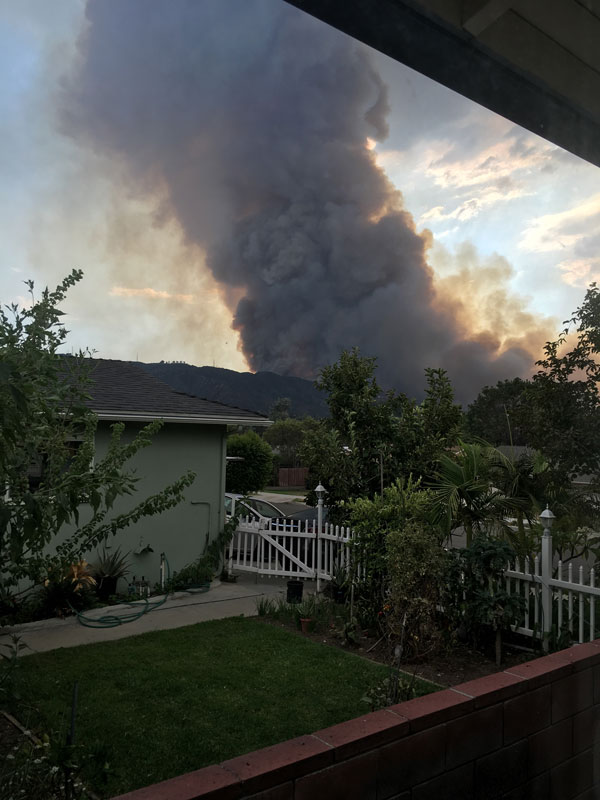 <div class='meta'><div class='origin-logo' data-origin='none'></div><span class='caption-text' data-credit=''>Smoke can be seen from the fire between Sun Valley and Tujunga on Friday, Sept. 1, 2017.</span></div>