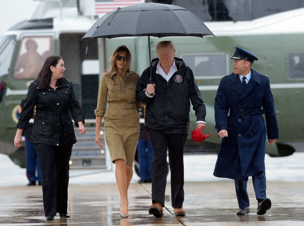 "<div class=""meta image-caption""><div class=""origin-logo origin-image none""><span>none</span></div><span class=""caption-text"">President Donald Trump and first lady Melania Trump walk towards Air Force One at Andrews Air Force Base in Md. (Susan Walsh/AP Photo)</span></div>"