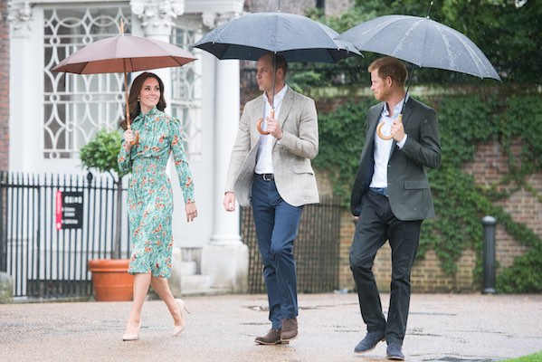 <div class='meta'><div class='origin-logo' data-origin='Creative Content'></div><span class='caption-text' data-credit='Samir Hussein/Contributor'>Prince William, Duke of Cambridge, Catherine, Duchess of Cambridge and Prince Harry visit The Sunken Garden at Kensington Palace on August 30, 2017 in London, England.</span></div>