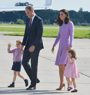 "<div class=""meta image-caption""><div class=""origin-logo origin-image wabc""><span>wabc</span></div><span class=""caption-text"">Prince George of Cambridge, Prince William, Duke of Cambridge, Catherine, Duchess of Cambridge and Princess Charlotte of Cambridge depart from Hamburg airport on July 21, 2017. (Pool/Samir Hussein/WireImage)</span></div>"