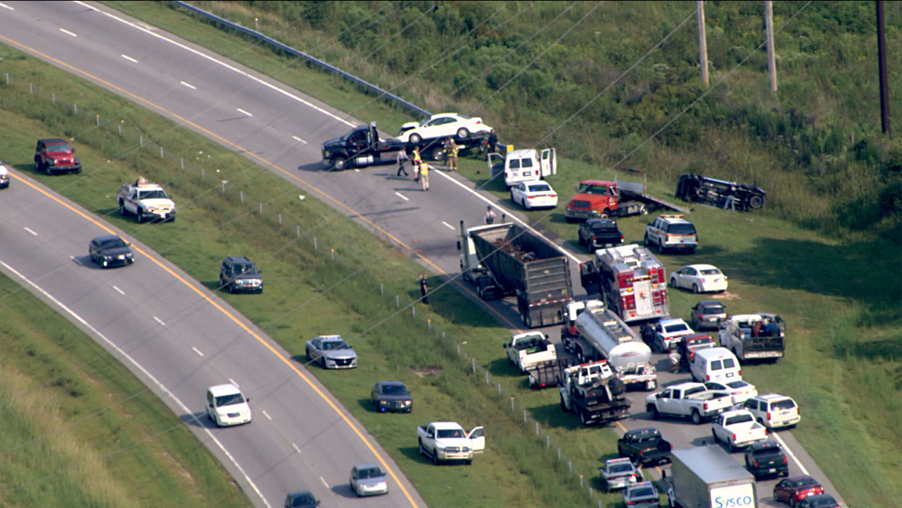 Highway 70 eastbound is closed in Johnston County at Wilson's Mills Road.