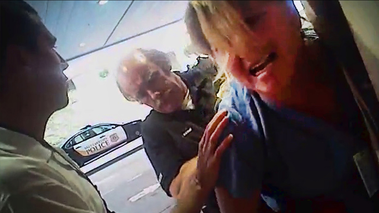 Police body cam video shows nurse Alex Wubbels being arrested by a Salt Lake City police officer