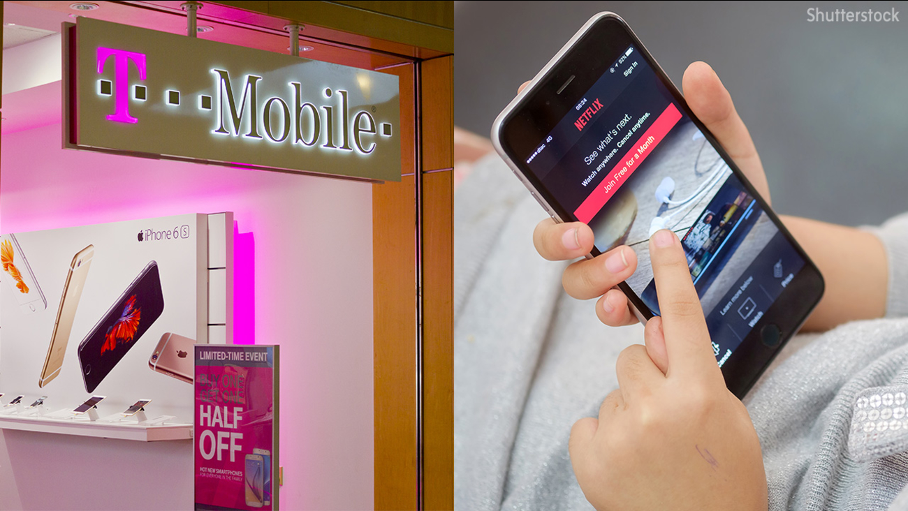 Image of t-mobile and netflix