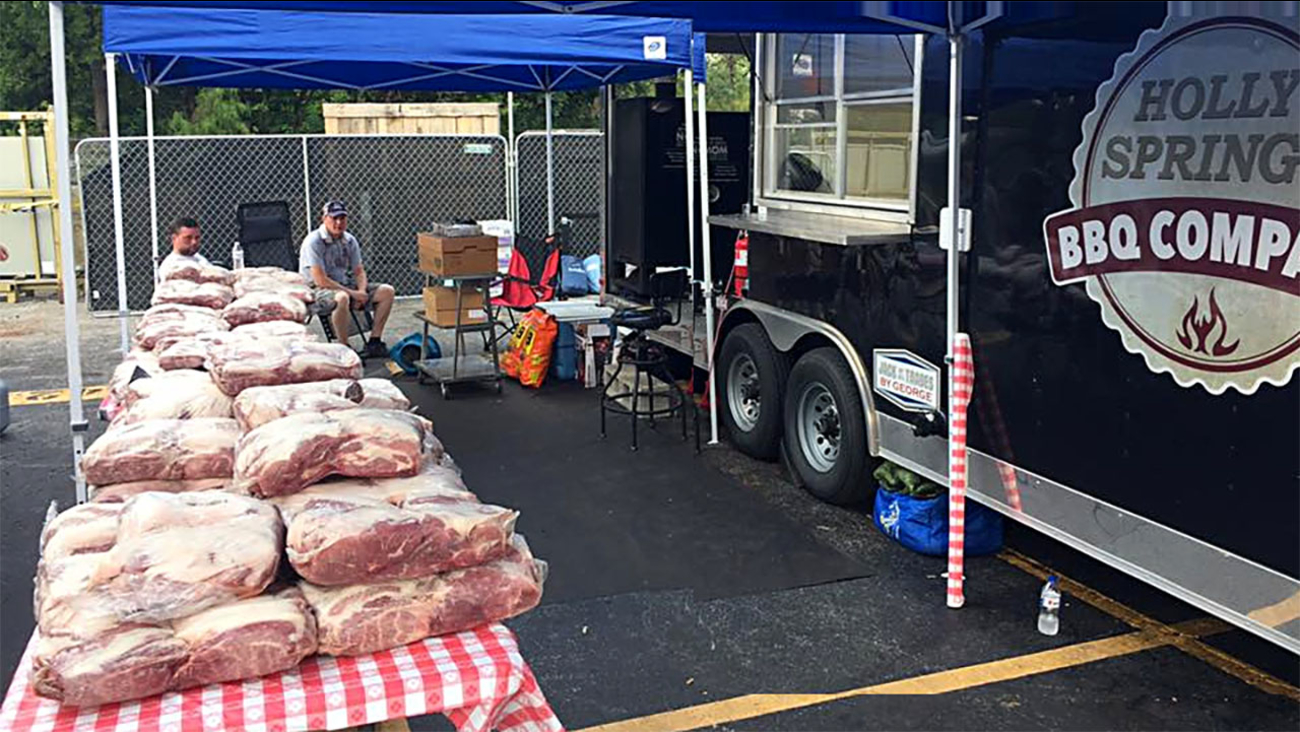 Holly Springs Barbecue Company is smoking up thousands of pounds of meat in Houston.
