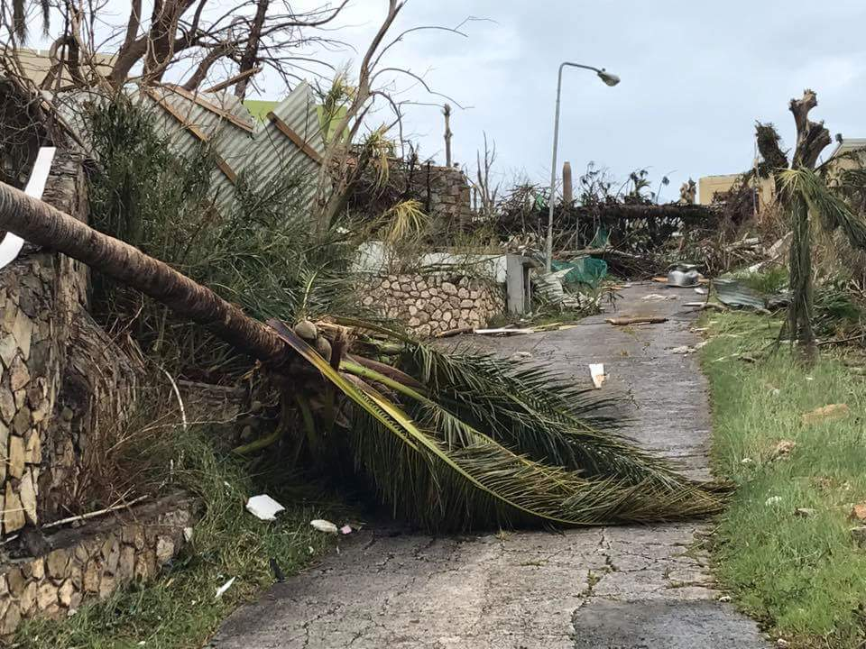 <div class='meta'><div class='origin-logo' data-origin='none'></div><span class='caption-text' data-credit='Loren Ann Mayo/Facebook'>This photo shows the damage in St. Maarten.</span></div>