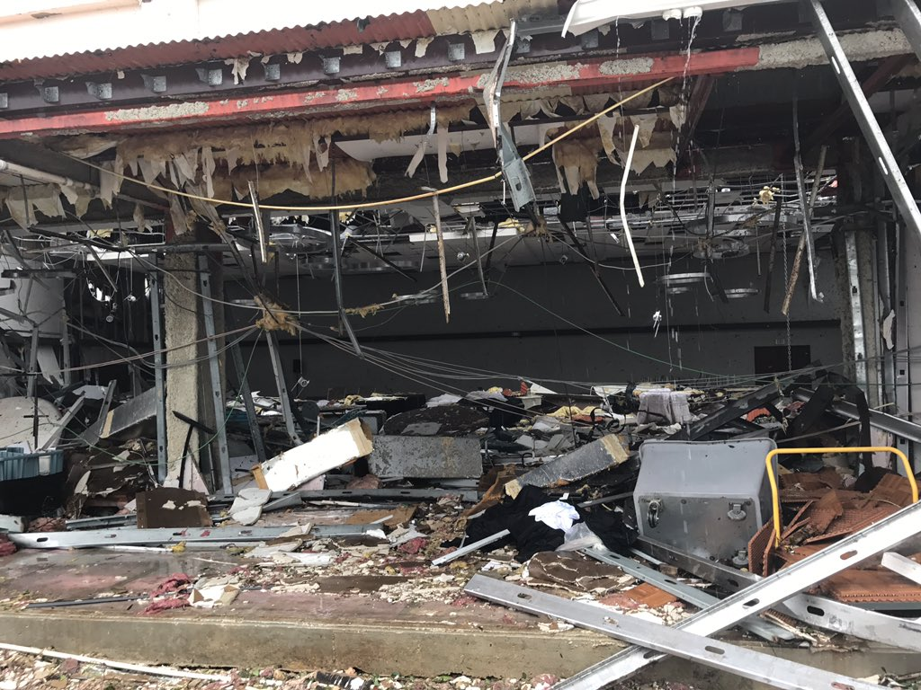 """<div class=""""meta image-caption""""><div class=""""origin-logo origin-image none""""><span>none</span></div><span class=""""caption-text"""">''Saint Martin needs your prayers. This was shelter we were in until 5am when roof blew off. We were moved minutes before,'' wrote Jonathan Falwell. (Jonathan Falwell/Twitter)</span></div>"""