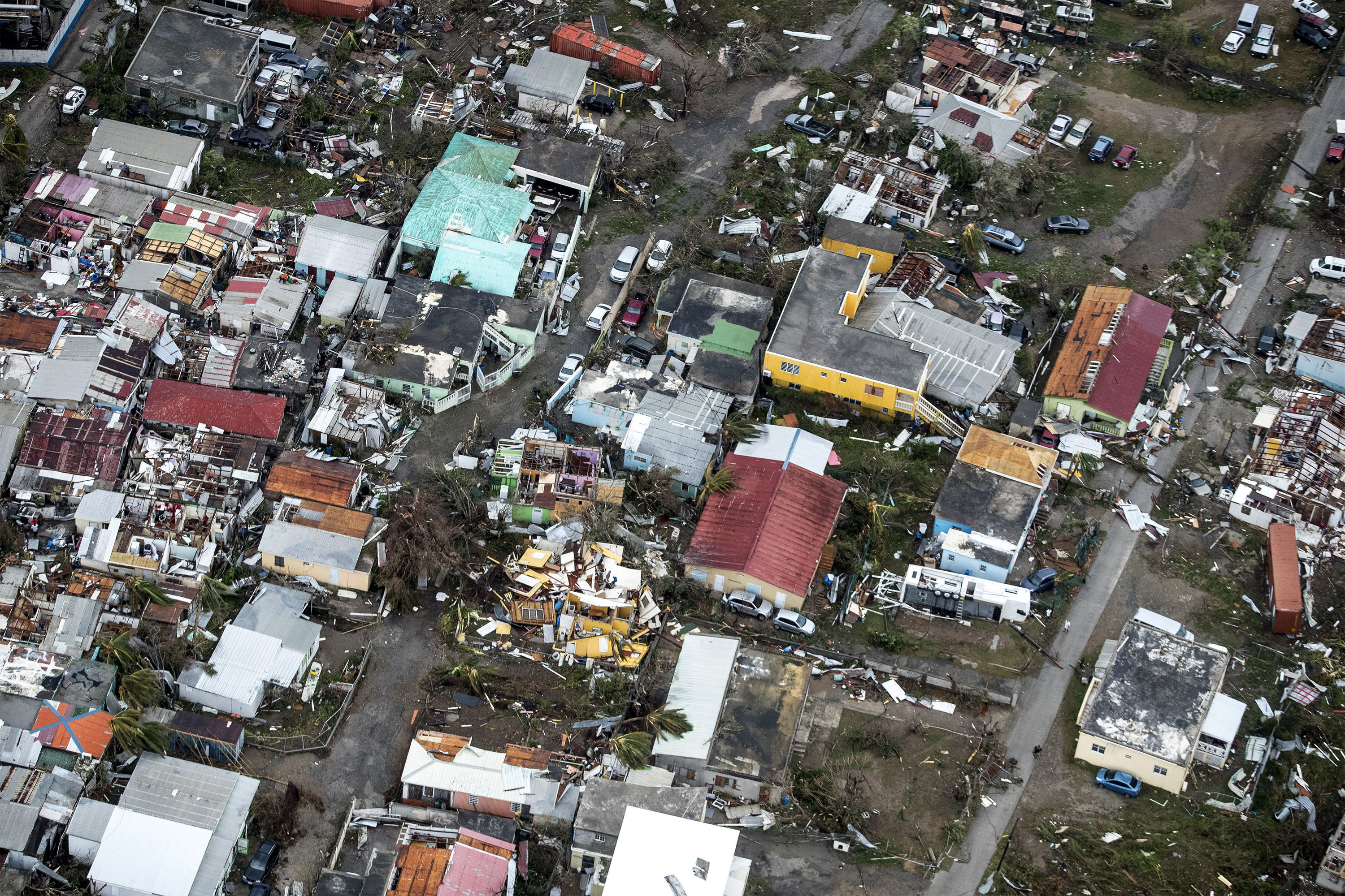 "<div class=""meta image-caption""><div class=""origin-logo origin-image none""><span>none</span></div><span class=""caption-text"">This Sept. 6, 2017 photo provided by the Dutch Defense Ministry shows storm damage in the aftermath of Hurricane Irma, in St. Maarten. (Gerben Van Es/Dutch Defense Ministry via AP)</span></div>"