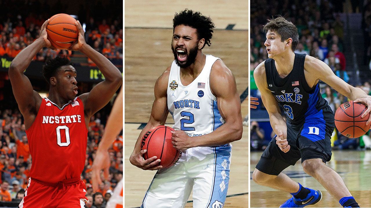 Veteran leadership: NC State's Malik Abu, UNC's Joel Berry II and Duke's Grayson Allen.