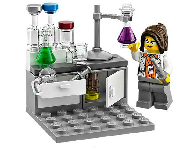 "<div class=""meta image-caption""><div class=""origin-logo origin-image ""><span></span></div><span class=""caption-text"">Finally, there's the chemist experimenting in her lab. (Photo/LEGO)</span></div>"