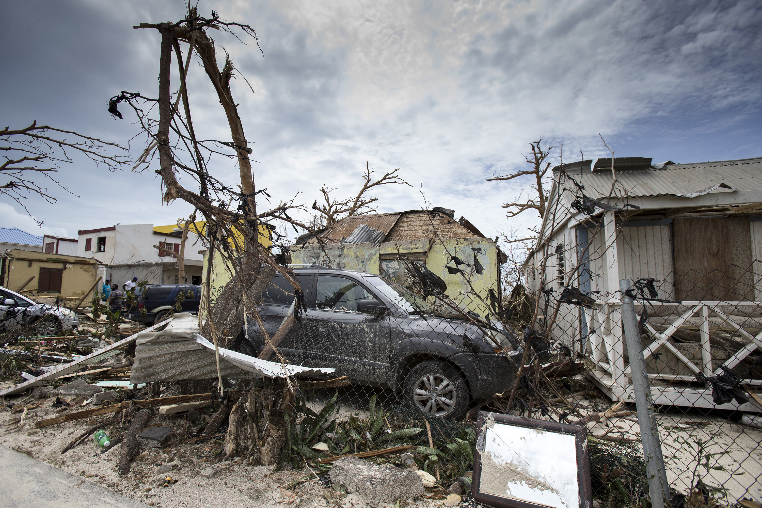 """<div class=""""meta image-caption""""><div class=""""origin-logo origin-image none""""><span>none</span></div><span class=""""caption-text"""">This Sept. 7, 2017 photo provided by the Dutch Defense Ministry shows storm damage in the aftermath of Hurricane Irma, in St. Maarten. (Gerben Van Es/Dutch Defense Ministry via AP)</span></div>"""