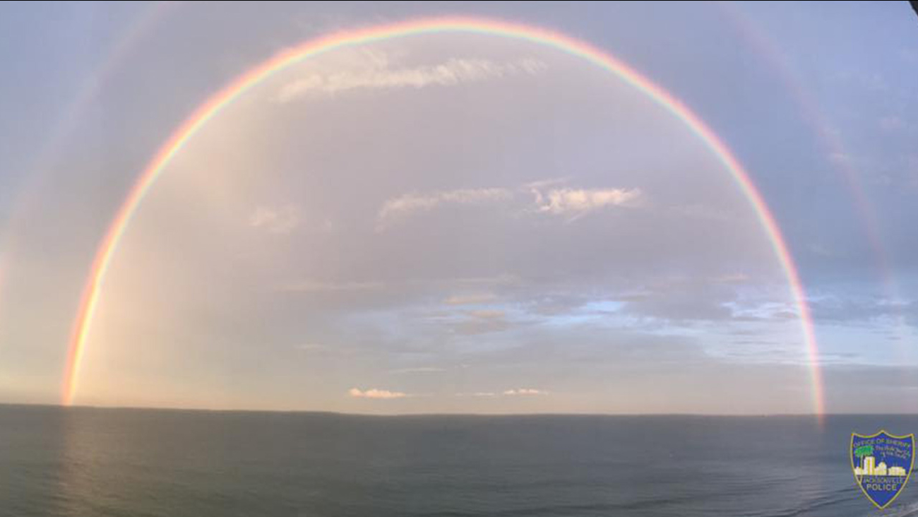 This inspirational sight was seen over Jacksonville Beach as Florida residents prepare for Hurricane Irma