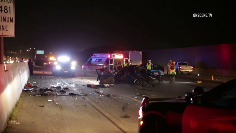 3 killed in crash on 60 Fwy in Jurupa Valley