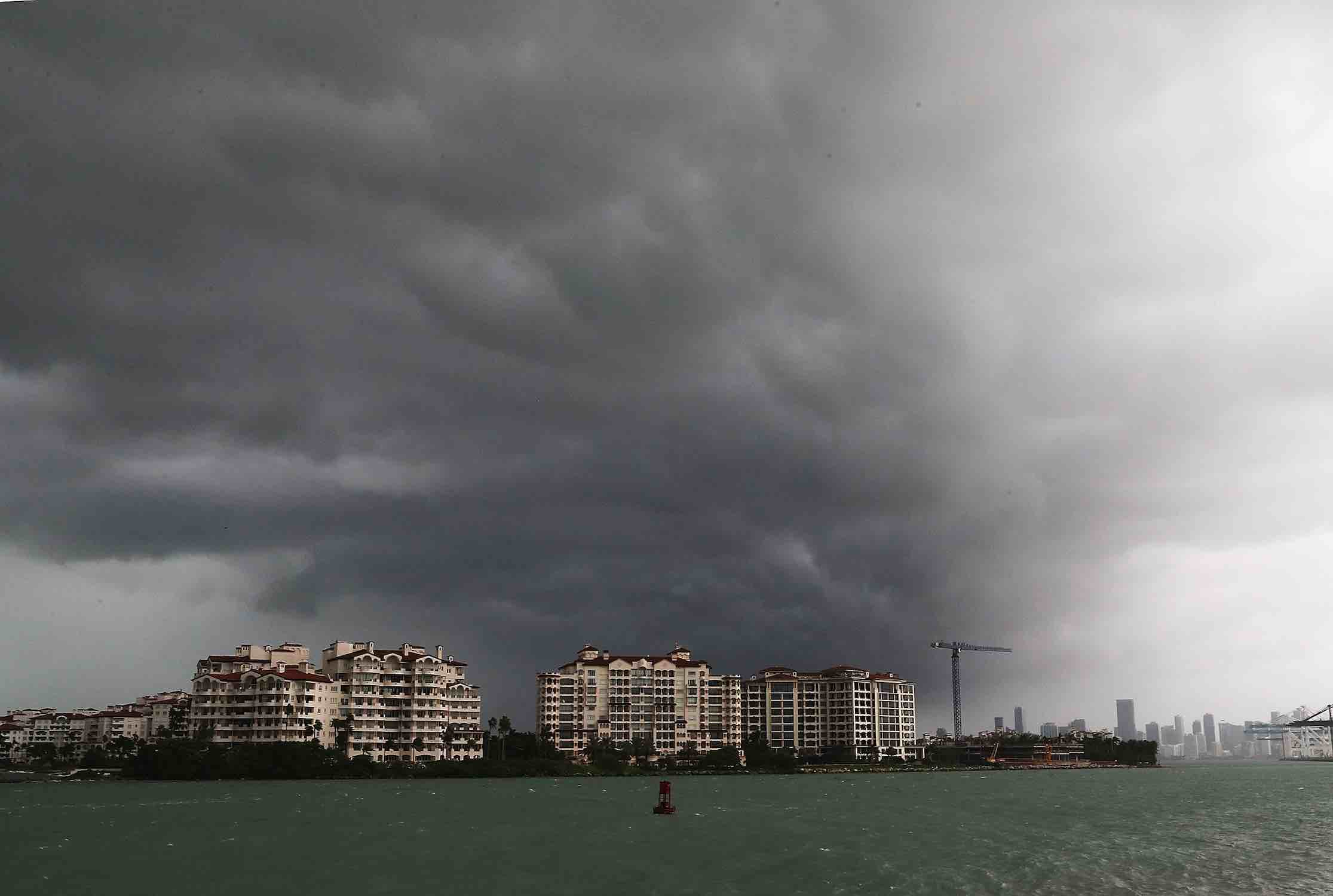 "<div class=""meta image-caption""><div class=""origin-logo origin-image kgo""><span>kgo</span></div><span class=""caption-text"">Storm clouds are seen over Fisher Island as Hurricane Irma approaches on September 9, 2017 in Miami Beach, Florida. (Joe Raedle/Getty)</span></div>"