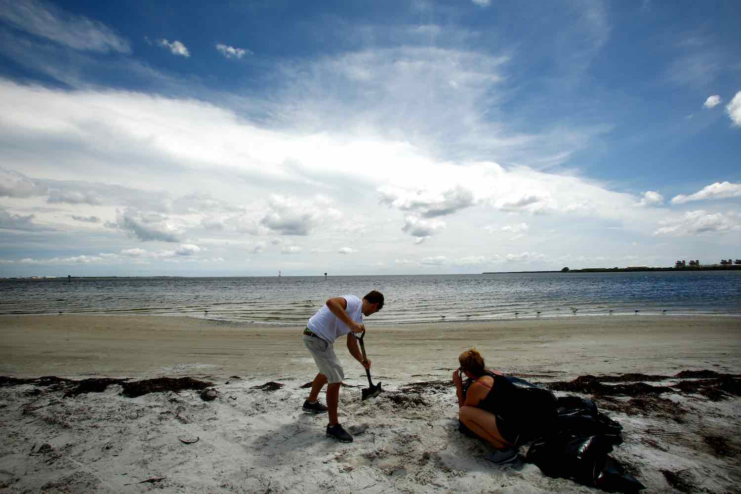<div class='meta'><div class='origin-logo' data-origin='Creative Content'></div><span class='caption-text' data-credit='Brian Blanco/Getty'>Tampa residents load sandbags with beach sand at Gandy Beach as residents and visitors in Florida prepare for, and evacuate ahead of, Hurricane Irma on September 09, 2017.</span></div>