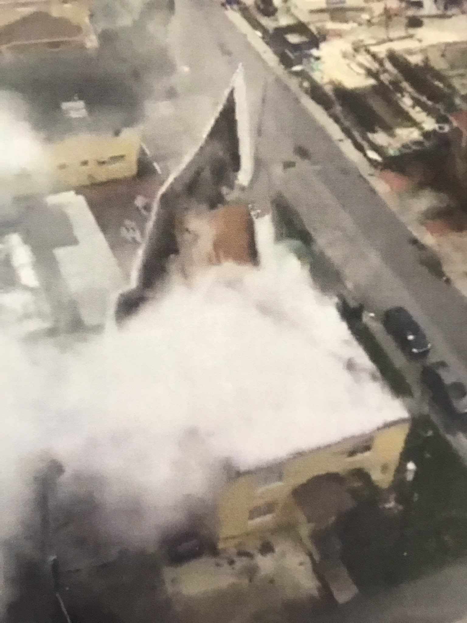 "<div class=""meta image-caption""><div class=""origin-logo origin-image none""><span>none</span></div><span class=""caption-text"">''Using satellite before pictures @CityofMiamiFire was able to confirm a roof peeled off a two story apt Bldg at 2642 NE 5th Ave in #Miami,'' the city posted on Sunday. (CityofMiami/Twitter)</span></div>"