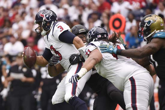 "<div class=""meta image-caption""><div class=""origin-logo origin-image ap""><span>AP</span></div><span class=""caption-text"">Houston Texans quarterback Tom Savage (3) is sacked during the first half of an NFL football game against the Jacksonville Jaguars Sunday, Sept. 10, 2017, in Houston. (Eric Christian Smith)</span></div>"