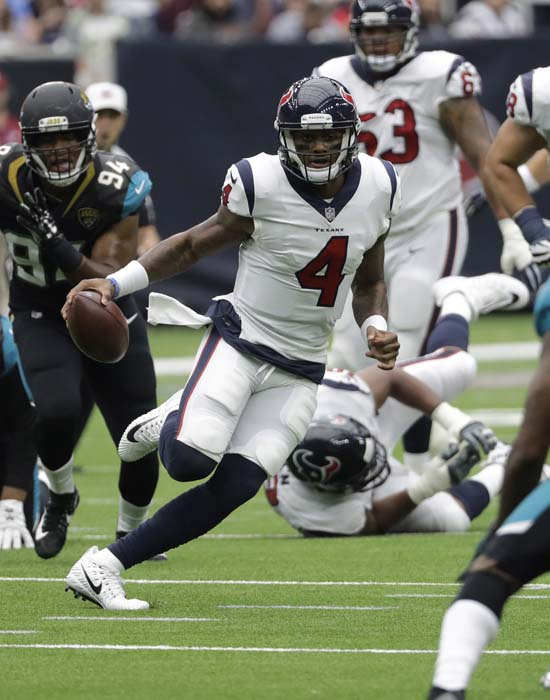 "<div class=""meta image-caption""><div class=""origin-logo origin-image ap""><span>AP</span></div><span class=""caption-text"">Houston Texans quarterback Deshaun Watson (4) is shown during the second half of an NFL football game Sunday, Sept. 10, 2017, in Houston. (AP Photo/David J. Phillip) (AP)</span></div>"