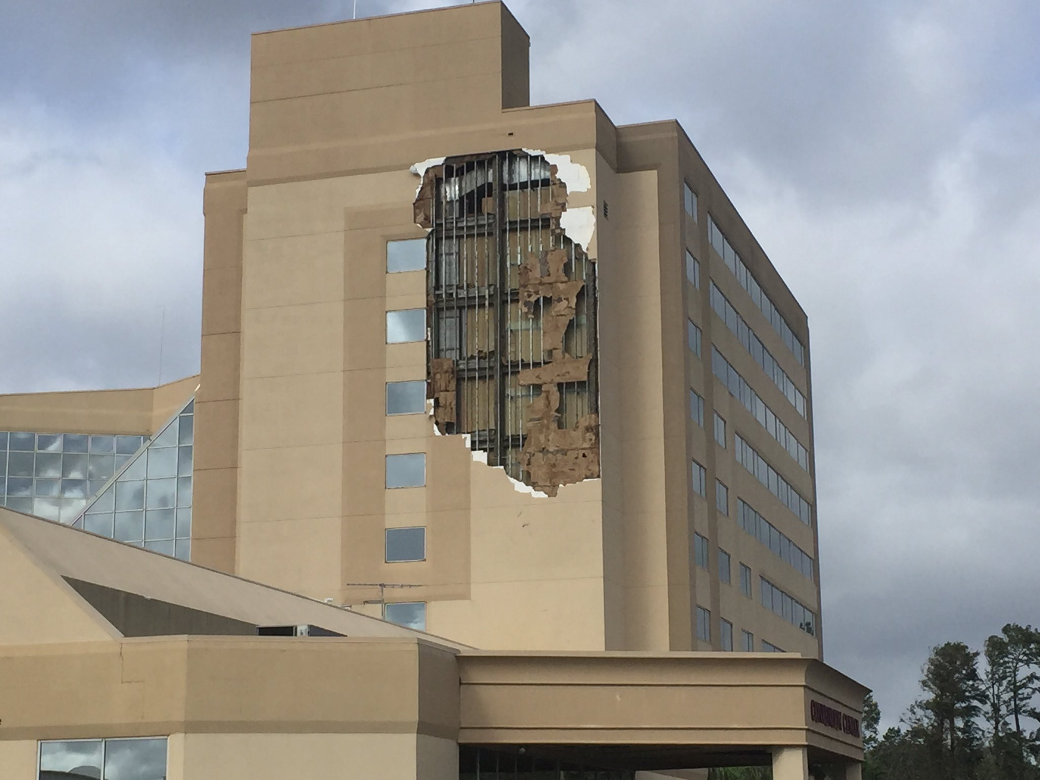 <div class='meta'><div class='origin-logo' data-origin='none'></div><span class='caption-text' data-credit='Roy Ramos/WFTV'>A DoubleTree hotel by the Orlando Airport had part of its side ripped off by Hurricane Irma.</span></div>