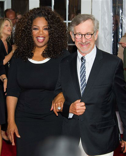 "<div class=""meta image-caption""><div class=""origin-logo origin-image ""><span></span></div><span class=""caption-text"">Producers Oprah Winfrey and Steven Spielberg attend ""The Hundred-Foot Journey"" premiere on Monday, August 4, 2014 in New York. (Photo by Charles Sykes/Invision/AP)</span></div>"