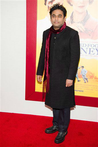 "<div class=""meta image-caption""><div class=""origin-logo origin-image ""><span></span></div><span class=""caption-text"">Composer A.R. Rahman attends ""The Hundred-Foot Journey"" premiere on Monday, August 4, 2014 in New York. (Photo by Charles Sykes/Invision/AP)</span></div>"