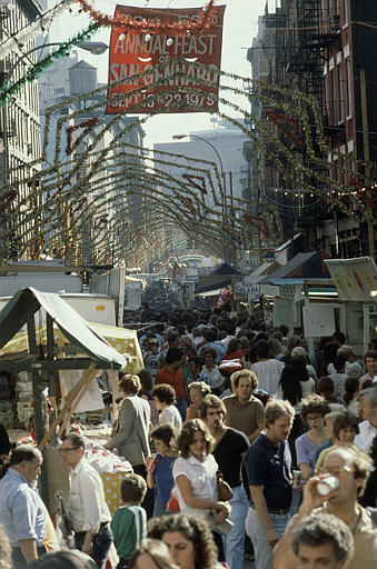 "<div class=""meta image-caption""><div class=""origin-logo origin-image ap""><span>AP</span></div><span class=""caption-text"">People crowd Mulberry Street in New York during the annual San Gennaro Feast in New York's Little Italy, Sept. 1979.  (AP Photo) (AP)</span></div>"
