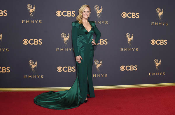 "<div class=""meta image-caption""><div class=""origin-logo origin-image kfsn""><span>kfsn</span></div><span class=""caption-text"">Samantha Bee arrives at the 69th Primetime Emmy Awards (Jordan Strauss/Invision/AP)</span></div>"