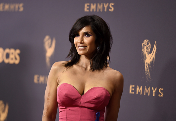 "<div class=""meta image-caption""><div class=""origin-logo origin-image wpvi""><span>wpvi</span></div><span class=""caption-text"">Padma Lakshmi arrives at the 69th Primetime Emmy Awards. (Richard Shotwell/Invision/AP)</span></div>"