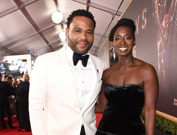 "<div class=""meta image-caption""><div class=""origin-logo origin-image wpvi""><span>wpvi</span></div><span class=""caption-text"">Anthony Anderson, left, and Alvina Stewart arrive at the 69th Primetime Emmy Awards (Charles Sykes/AP)</span></div>"